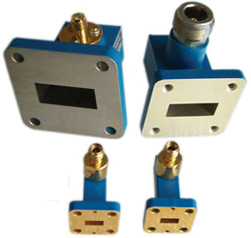 Right Angle Launch Waveguide Coaxial Adapters
